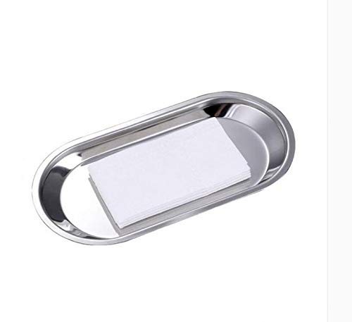 MBB Dishes Plates Cosmetic Jewelery Storage Holder Towel Tray Mirror Polished for Living Room Bathroom Bedroom