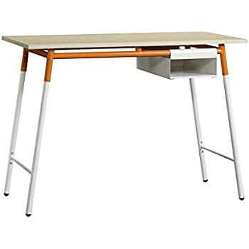 Amazon Com Ameriwood Home Owen Retro Desk Weathered Oak