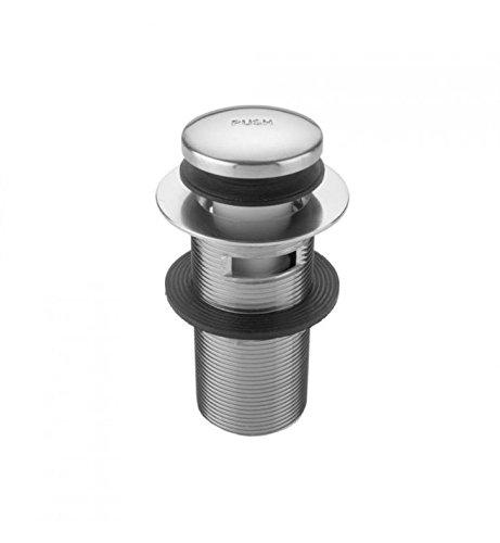 Jaclo 533-125-SDB Extra Long Thread Toe Control Drain Strainer with Overflow 5 Sedona Beige 5 Standard Plumbing Supply