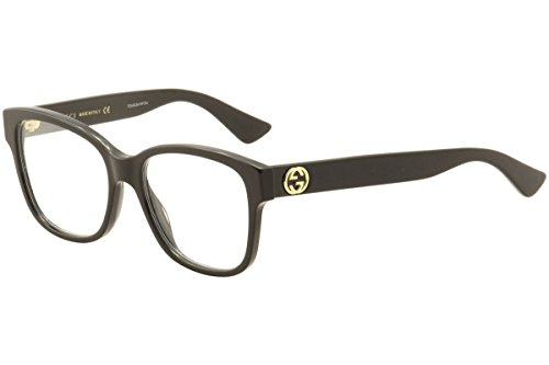 Gucci - GG0038O Optical Frame ACETATE (Black, Clear) by Gucci
