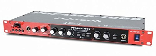 DJTECH PREAMP1800 8-Channel Preamplifier with 2-In/2-Out USB Interface by DJ Tech