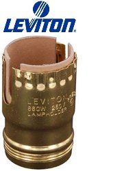 Leviton 7111-2 660W-250V, Metal Shell, Medium Base, Push Thru- ()