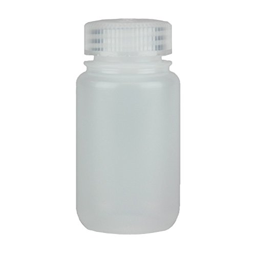Mouth Environmental Sample Bottle - Certified Clean 4oz Wide Mouth Sample Bottle, HDPE, Nalgene, case/48