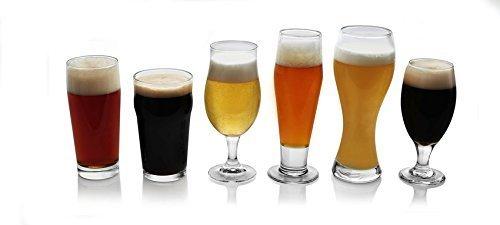 Stemmed Pilsner Glass (Libbey Craft Brews 6-piece Assorted Beer Drinkware Glass Set)