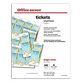 Office Depot(R) Laser/Inkjet Tickets, Pack Of 440 Tickets offers