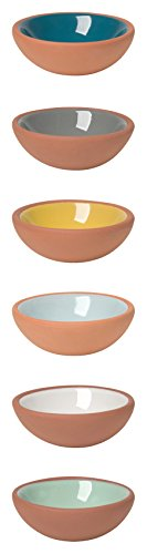 - Now Designs Terracotta Pinch Bowls, Set of 6