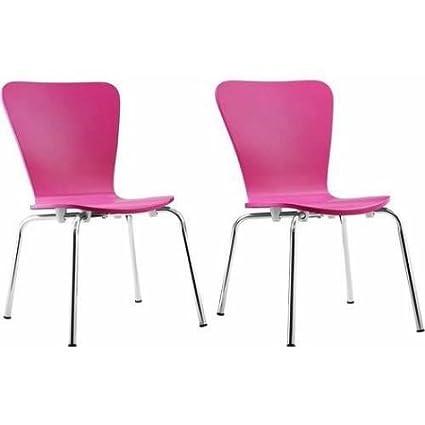 Kids Bentwood Chair Set of 2 Pink  sc 1 st  Amazon.com & Amazon.com: Kids Bentwood Chair Set of 2 Pink: Kitchen u0026 Dining