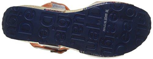 Desigual Bio7 Denim Patch, Heels Sandals para Mujer Azul (blue 5106)