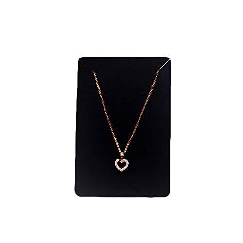 HugeDE 200 Pcs Blank Kraft Paper Necklace Display Cards Jewelry Bracelet Display Cards Black