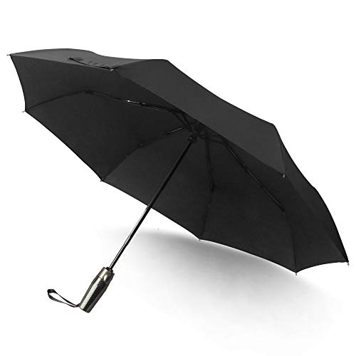 - Hanmir Black Windproof Umbrella Auto Open & Close Umbrella Men and Woman Folding Travel Umbrella