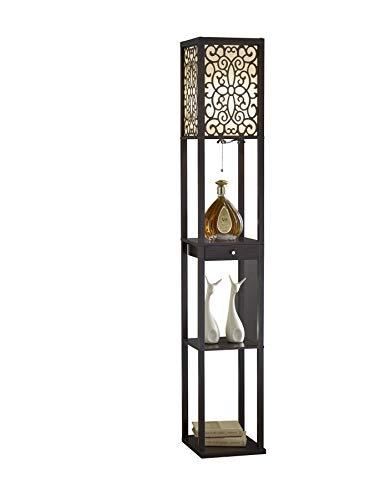 Artiva USA A808101EX Etagere Shelf Floor lamp with Drawer, 63