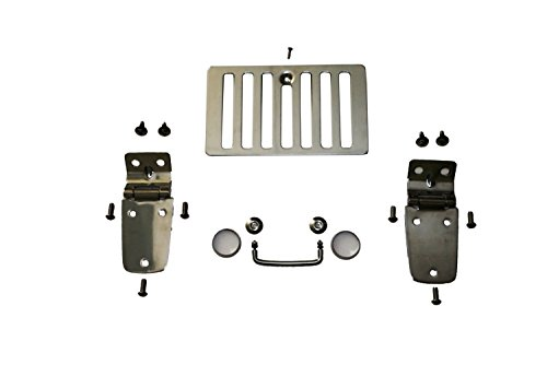 Rampage Products 7465 Stainless Hood Kit (for 97-06 Jeep (Stainless Hood Hinges)