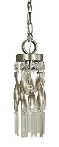 Framburg Lighting 4718 SP/PN Adele - One Light Pendant, Satin Pewter/Polished Nickel Finish