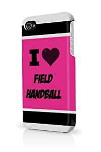 Field Handball Pink iPhone 4 Case Fits iPhone 4 & iPhone 4S Full Print Plastic Snap On Case