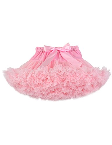 (Baby Girls Tutu Skirt Princess Fluffy Soft Chiffon Ballet Birthday Party Pettiskirt Pink)