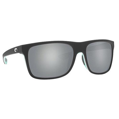 Costa Unisex Remora Matte Gray/White/Mint/Gray Silver Mirror 580p One - Evoke Sunglasses