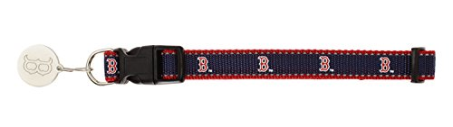 Sporty K9 MLB Reflective Dog Collar, Boston Red Sox Small ()