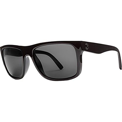 Electric Unisex Swingarm Polarized Sunglasses, Gloss Black/Melanin Grey Level 1, One Size by Electric Visual