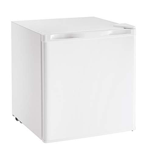 AGLUCKY Compact Refrigerator, Portable Single Door Refrigerator with Freezer Compartment, Home and Office, 1.62 cuft, White