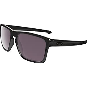Oakley Mens Sliver XL Polarized Sunglasses, Polished Black/Prizm Daily, One Size