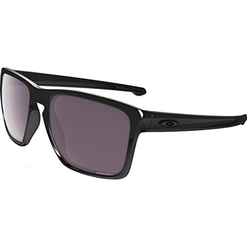 Oakley Mens Sliver XL Polarized Sunglasses, Polished Black/Prizm Daily, One - Oakley Silver