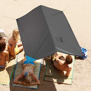 INTEY 3 in 1 Multifunctional Beach Sheet Sand Proof & Waterproof Beach Blanket Beach Mat for Family