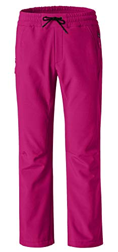 (Wantdo Women's Fleece Insulated Outdoor Ski Softshell Windproof Pants Rose Red US M)