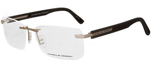 Men Eyeglasses Porsche Design Rimless Frame Acetate P8232 C Gold Grey Matte 59 - Titanium Acetate