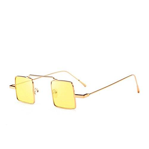 Lunettes de Soleil Ansenesna Lunettes de soleil de forme carrée de lunettes de soleil de mode de femmes intégrées Lunettes colorées de bonbon UV D