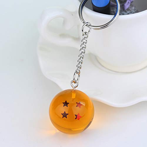 Hot Anime Dragon Ball Z Keychains Orange Pvc 1-7stars Goku ...