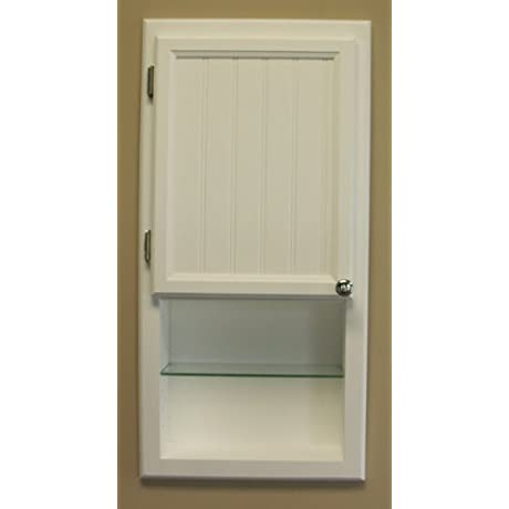 WC 430ws 30 H Recessed In Wall Bathroom Medicine Cabinet With Shelf Solid Wood