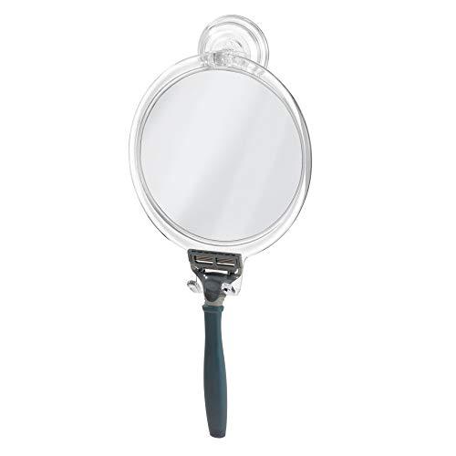 iDesign Plastic Power Lock Suction Shaving Razor Holder, Fog-Free Bathroom or Tub, - Installing Glue Mirrors A Bathroom With