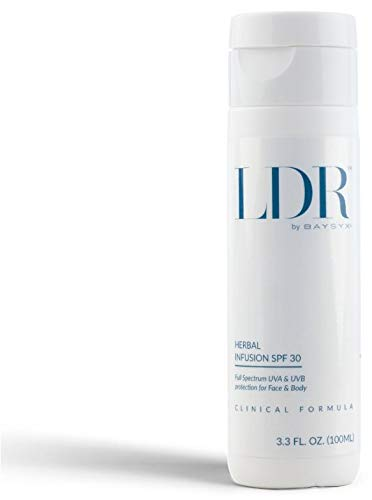 LDR by Baysyx - Herbal Infusion SPF 30 Sunscreen (3.3 Oz) | Full Spectrum UVA & UVB Protection for Face & Body | Fortified with Japanese Green Tea Extract | Made in The USA from Natural Ingredients