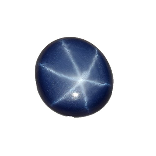 Natural Certified 8.65 Ct. 13 mm 6 Rays Blue Star Sapphire Oval Cabochon Loose Gemstone BP-038