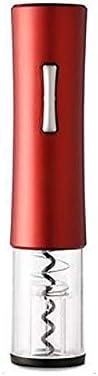 WQG Sacacorchos de Vino automático, Cortador de Botellas, Corcho de Vino eléctrico abrelatas, Accesorios de Cocina Gadget Sacacorchos adecuados para Uso doméstico (Color : Red)