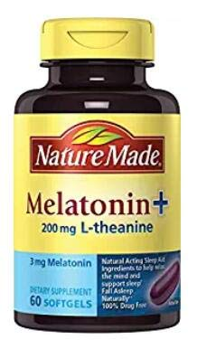 Nature Made Melatonin + with 200 Mg L-theanine, 60 Ct (2 Pack)
