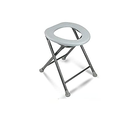 J&L Commode Chair Metal Collapsible Portable Elderly Use Mobile Toilet