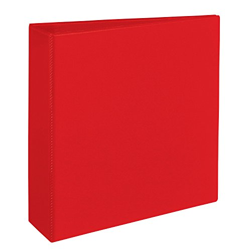 [Avery Heavy-Duty Binder with 3-Inch One Touch EZD Ring, Red (79583)] (New Prima Chipboard)
