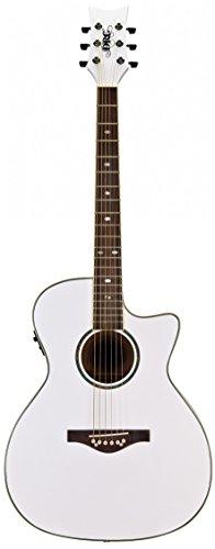 Daisy Rock DR6274-U Wildwood A/E Guitar Pearl White - Pearl Rock