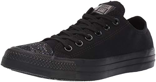 Converse Womens Unisex Chuck Taylor All Star Glitter Accent Low Top Sneaker
