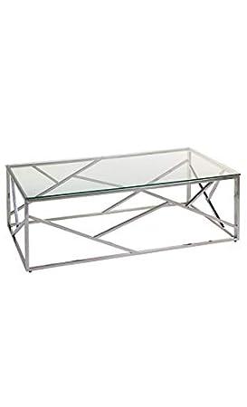 Basse Cristal Verre Table Et Pons Santiago Chrome BodxCe
