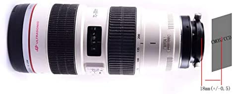 with 360 Degree CAA heirui Canon Camera Lens to M48 Connecting Ring