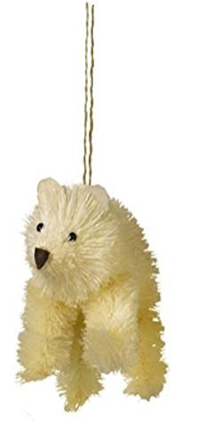 Bottle Brush Polar Bear Christmas Ornament by Grasslands Road