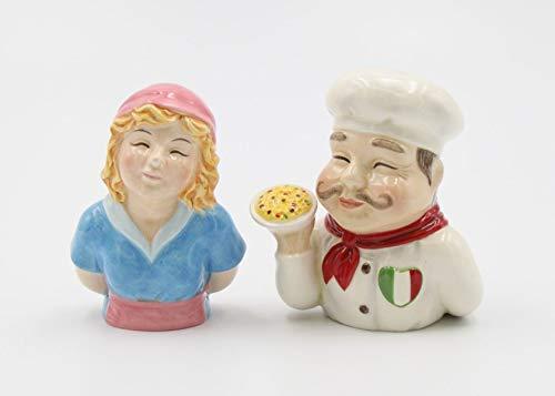 (Taste of Italy Chef Man and Women Salt and Pepper Shaker Set)