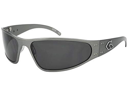 Gatorz Eyewear, Wraptor Model, Aluminum Frame Sunglasses - Gun Metal/Smoked Polarized ()