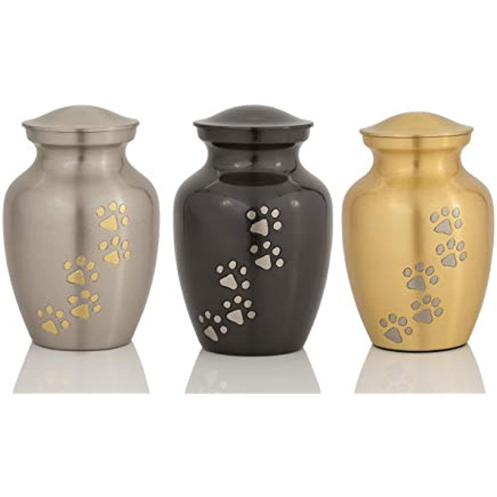 Cerberus Series Affordable Brass Enshrined Memorials Cremation Urn for Ashes