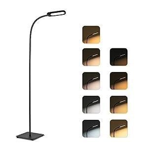 TECKIN Lampe, 12W 5 températures de couleur Luminosité 4 niveaux, lampadaire sur pied salon, chambre et bureau avec…