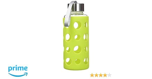 Ibili lago botella de cristal, verde, 400 ml, 1 unidad