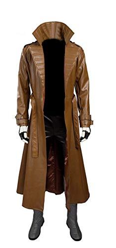 UGFashions Channing Tatum Gambit Brown Costume Trench Long Leather Coat -