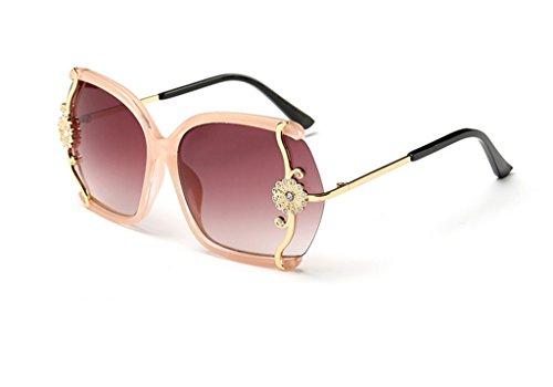 la la conducen incrustados gafas grandes sol gafas los Gafas vidrios B A de de sol X565 de gradientes Señoras la caja QQB marea manera Color de Vidrios diamante de gnOxYHHd